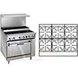Imperial Commercial Restaurant Range 36 Step Up 6 Burners 1 Convection Oven Natural Gas Ir-6-Su-C