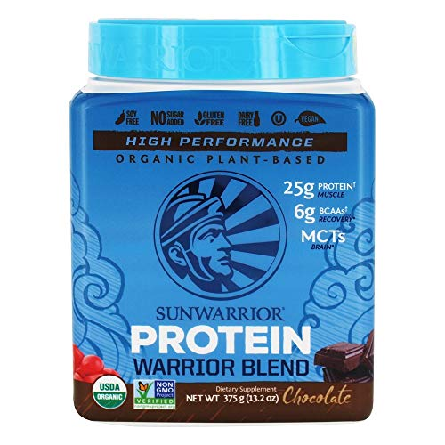 Sunwarrior – Warrior Blend, Plant Based, Raw Vegan Protein Powder with Peas & Hemp, Chocolate, 15 Servings