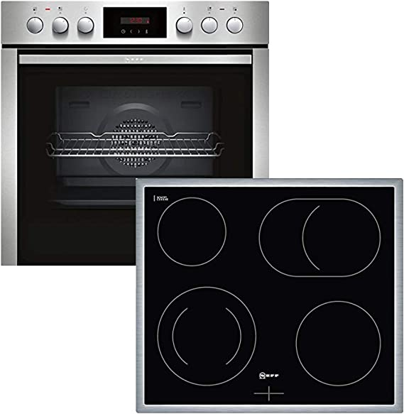 Neff Xe4p Oven Cooker Combination Built In 4 Heating Elements 23 4 Inch Stainless Steel Black Hinged Door Roasting Zone Large Appliances