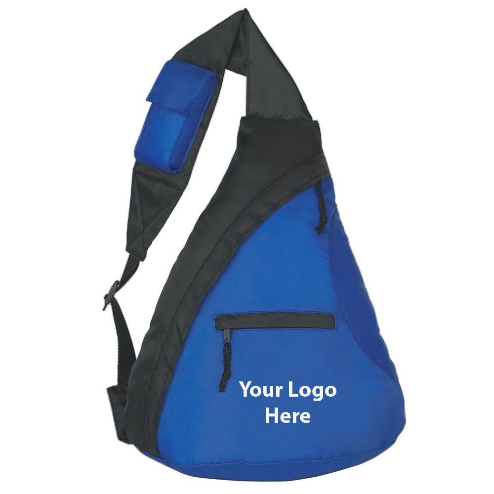 予算スリングバックパック – 100数量 – $ 97.8各 – プロモーション製品/バルク/ブランドロゴ/でカスタマイズされた  Royal Blue B01B0J61V6