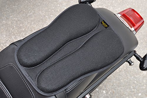 SKWOOSH Passenger Pillion IV Motorcycle Gel Rear Seat Pad with Breathable Cooling Mesh Fabric | Made in USA (Best Motorcycle For Pillion Passenger)