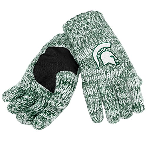 Michigan State Spartans Slippers (NCAA Michigan State Spartans Peak Glove, Green)
