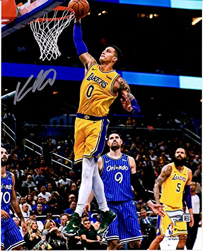 Angeles Los Lakers Photograph Autographed - Kyle Kuzma Los Angeles Lakers Autographed 8