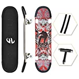 ENJUCOM 31' x 8' Complete PRO Skateboard for Beginner, Extreme Sports