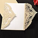 HONG JORA 24pcs Vintage Wedding Invitations Cards