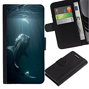 All Phone Most Case / Oferta Especial Cáscara Funda de cuero Monedero Cubierta de proteccion Caso / Wallet Case for Sony Xperia Z1 Compact D5503 // pescado de mar pesca azul naturaleza buceo monstruo