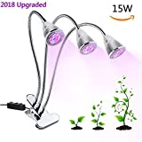 Tomshine LED Plant Grow Lights LOWEST PRICE Clip on Plant Lamp Bulb 15W Red/Blue Spectrum Plant Growing Light Three Head with Adjustable Triple on/off Switch for Indoor Gardening Greenhouse Review