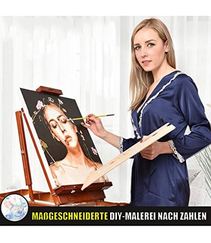PJCNEW Foto Personalizada Pintura por numeros Figura, Bricolaje Pintura al oleo por numeros, Pintura por numero DIY para la decoracion del hogar Regalos-Sin Marco