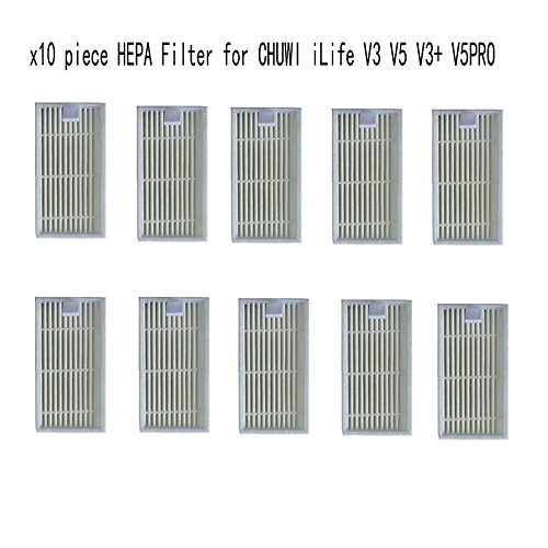 [10 pcs HEPA Filter for vacuum cleaner CHUWI ilife v5s ilife v5 pro V3 V3+ v5pro ilife x5 robot vacuum cleaner] (Log Costume)