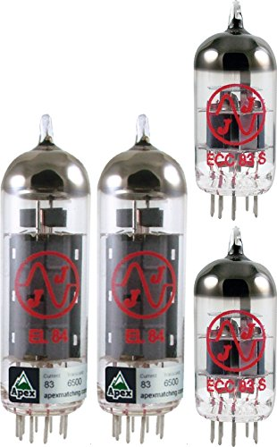 Vacuum Tube Set for Vox AC15 / AC15CC, JJ brand, Apex Matched (Best Tubes For Vox Ac15)