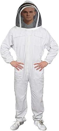 White Beekeeping Suit Beekeeper Suit Jacket Round Veil Full Suit 3XL