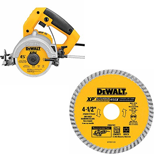 DeWalt DWC860W Wet/Dry Masonry Saw & DeWalt DW4701 Wet/Dry Diamond Saw Blade