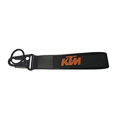1pc Weave Tag Keychain Key Ring Embroidered Keychain Motorcycle Superbike Scooter Car ATV UTV House Keys Chain Office ID Biker Accessories Works with (KTM): Automotive