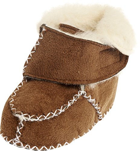 Playshoes Babyschuhe In Lammfell-optik - Zapatillas de casa Bebé-Niños Marrón - Braun (hellbraun 108)