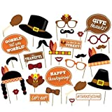 Palksky ( 29 count)Give Thanks,Thanksgiving Day Photo Booth Props,Happy Thanksgiving Photo Booth Props Decorations