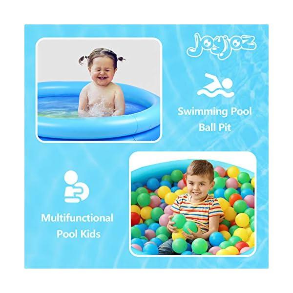 Joyjoz Piscina Gonfiabile per Bambini 120cm * 30cm Piscina per Bambini Giochi Estivi Fmiglia Giardino 3 spesavip