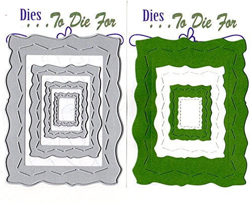 Dies ... to die for metal craft cutting die - Crazy stitched torn edge rectangle by ... To die for