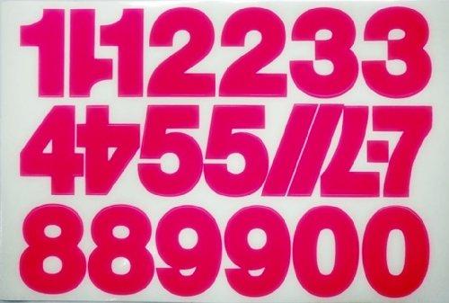 SHT Numbers - Pink Racing Bike Car Bumper Stickers (Racing Bumper Sticker)