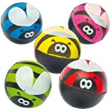 Baker Ross Ltd Bee High Bounce Jet Balls for Children Assorted Colors Perfect Party Bag Filler (Pack of 6)