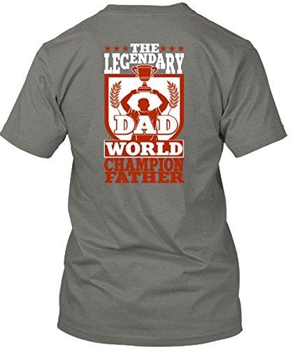 The Legendary Dad World Champion Father T Shirt, Being A Papa T Shirt Unisex (XXL,Dark Grey)