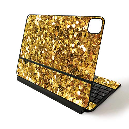 MightySkins Skin for Apple Magic Keyboard for iPad Pro 11-inch (2020) - Sushi | Protective, Durable, and Unique Vinyl Decal wrap Cover, Gold Chips (APIPSK1120-Gold Chips)