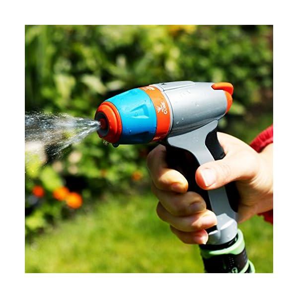 GRÜNTEK Pistola da Giardino in Metallo. Lancia da Giardino Regolabile: con polverizzatore per Fiori e Piante o Spray… 4 spesavip