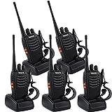 Retevis H-777 2 Way Radio UHF 400-470MHz 3W 16CH CTCSS/DCS Flashlight with Earpiece Walkie Talkies(5 Pack)