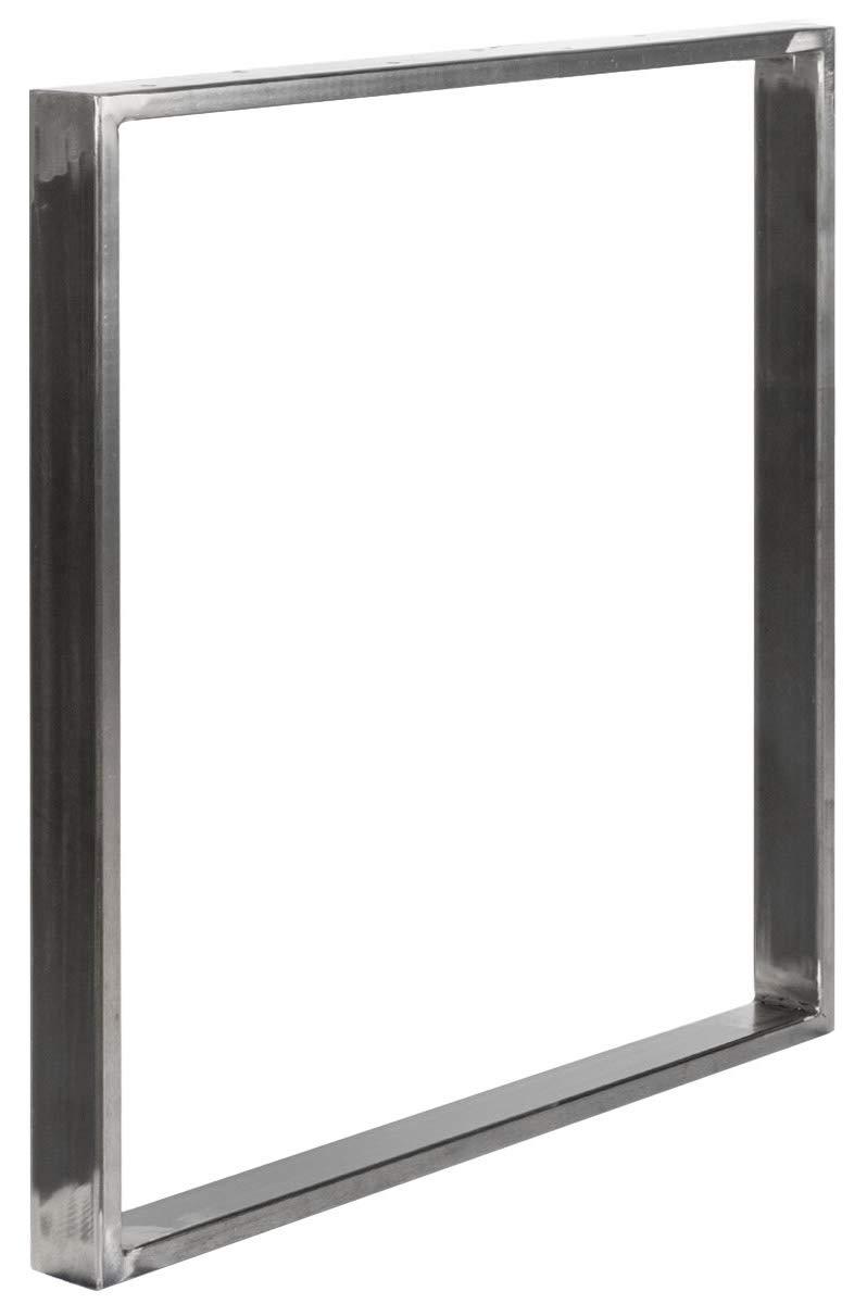 Cadre 80x72 cm Noir Fonc/é HLT-01-E-FF-9005 HOLZBRINK 1x Pied de Table en Profil/és dAcier 60x20 mm