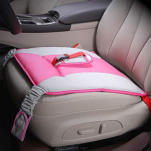 KXIN Maternity Car Seat Belt Clip Strap, Safety Seat Cushion Protection Fetal Belt Support Abdominal Band Anti-Doppler,Pink