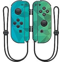 MightySkins Protective Vinyl Skin Decal for Nintendo Joy-Con Controller wrap Cover Sticker Skins Blue Green Polygon