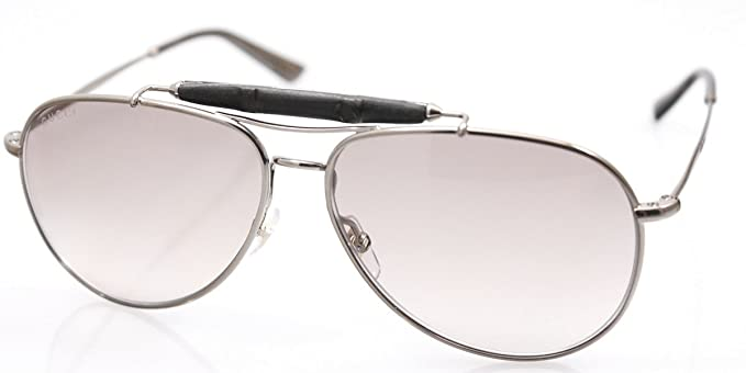 Amazon.com: anteojos de sol Gucci 2235/S plata Aviator: Clothing