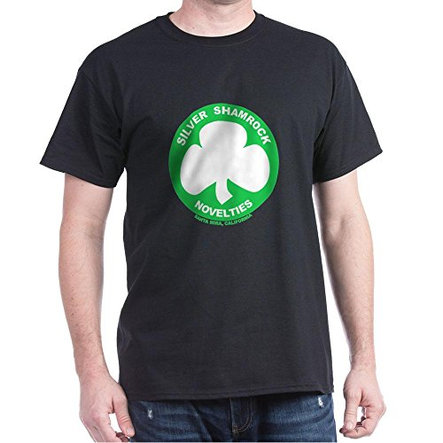 CafePress Silver Shamrock Novelties 100% Cotton T-Shirt -