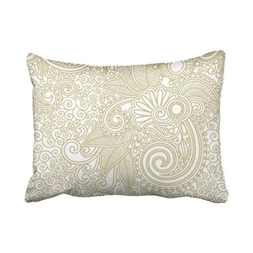 Emvency Pillowcases Aged Tribal Paisley Boho Outdoor Decor Pillowcases Polyester Pillow Cover 20 x 26 Inch Standanrd Size Rectangle Cushion Decorative Home Pillowcase Hidden Zipper