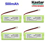 Kastar 4-PACK 4.8V 500mAh Ni-MH Rechargeable Battery Replacement for Dogtra BP12RT Dog Training Collar Receiver and 1900 NCP, 1902 NCP, 300M, YS500, SureStim H Plus, 1900 NCP, 302M and more Models