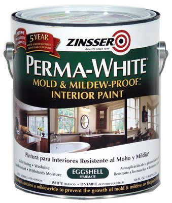 Perma White Mold and Mildew Proof Interior Paint Eggshell (Best Paint For Mold)