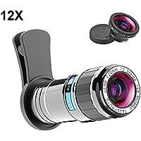 Cell Phone Camera Lens Kit, Vorida 12X Telephoto Lens...