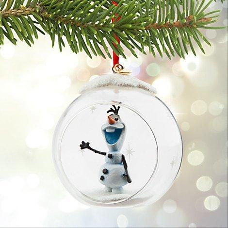 Disney 2015 Sketchbook Olaf Glass Globe Ornament Christmas Holiday Tree