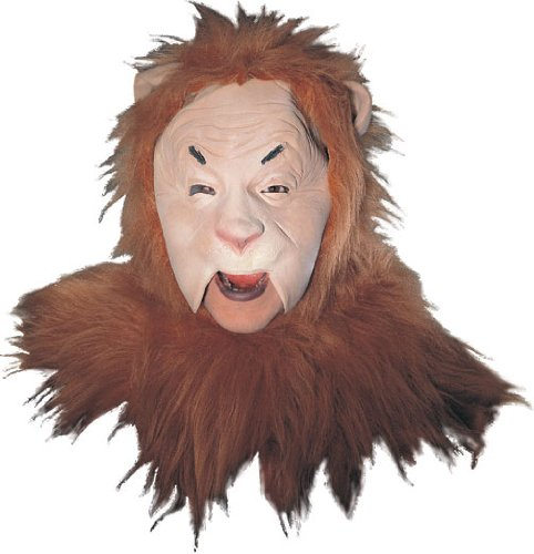 Rubie's Wizard Of Oz Cowardly Lion Mask, Orange/Brown, - Masks Man Of Oz Wizard