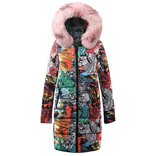 Womens Sweater,Kulywon Womens Winter Long Down Cotton Ladies Parka Hooded Coat Quilted Jacket Outwear(S/US 4,Pink) ()