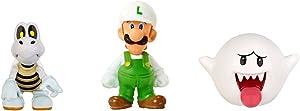 Nintendo Mario Bros U Micro Figure (3-Pack : Fire Luigi/Dry Bones/Boo)