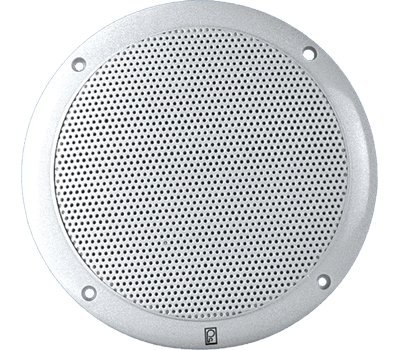 Poly Planar Ma 4055W 5 Inch Round Flush Mount Marine Speakers  White  Pair