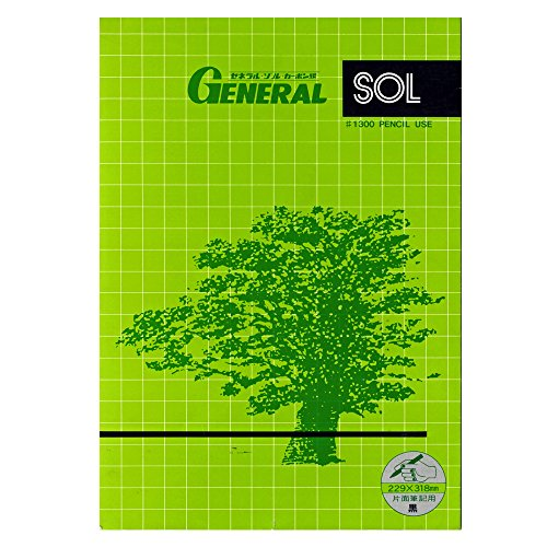 General carbon paper black single-sided writing portable # 1300K 10 sheets by General