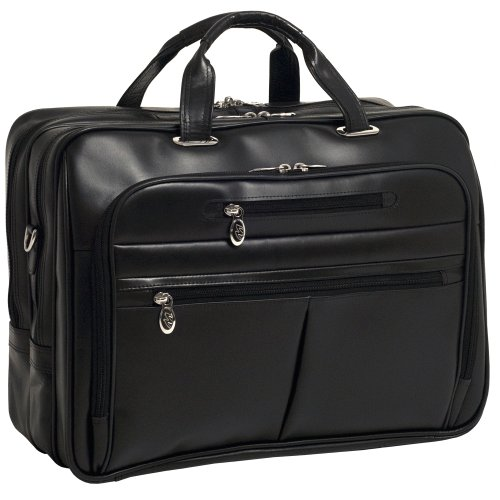 McKleinUSA ROCKFORD 86515 Black Leather 17'' Laptop Case by McKleinUSA