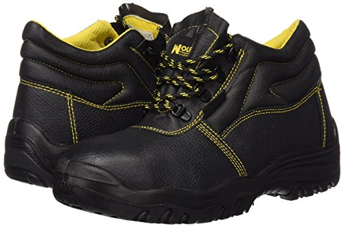Wolfpack 15018030 - Stivali di sicurezza numero 42 in pelle nera