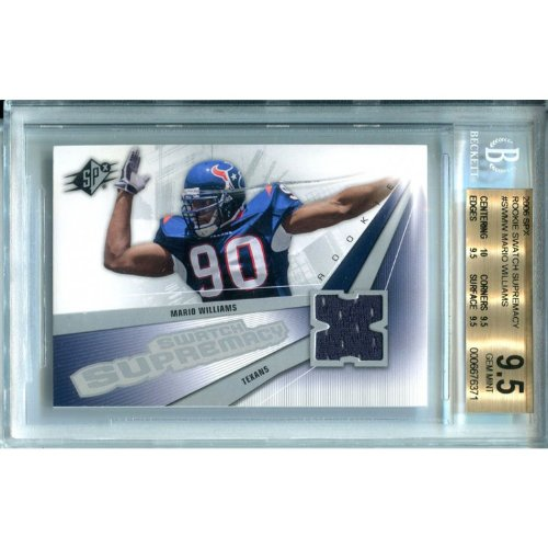 (Mario Williams Unsigned 2006 Upper Deck SPx Jersey Card)