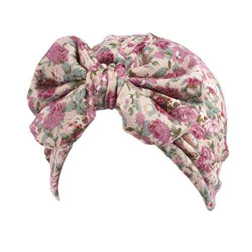 Hats for Kids Spring Floral Autumn Turban Baby Hat Accessories Hair Baby Bowknot Caps Children's Girls -