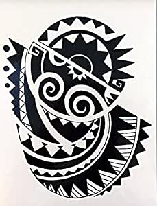 Tatuaje tribal para brazo de hombre, negro wx147 estilo Maorí ...