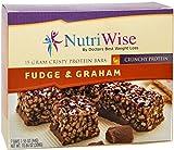 NutriWise - Fudge & Graham Crunch Diet Protein Bars (7 bars)