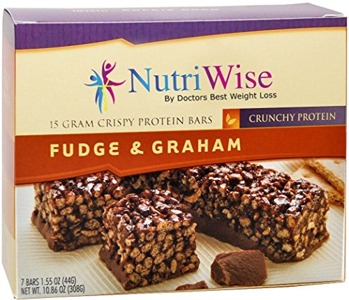 NutriWise - Fudge & Graham Crunch Diet Protein Bars (7 bars)