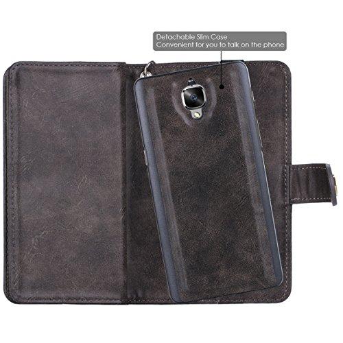 buy online 79716 55972 OnePlus 3 Case, OnePlus 3T Case, ONePLus 3 Wallet Case, BENTOBEN ...